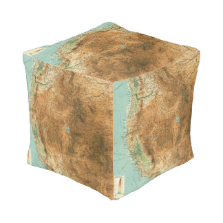 United States western section Cube Pouffe