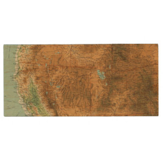 United States western section Wood USB 2.0 Flash Drive