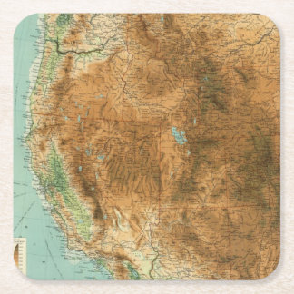United States western section Square Paper Coaster