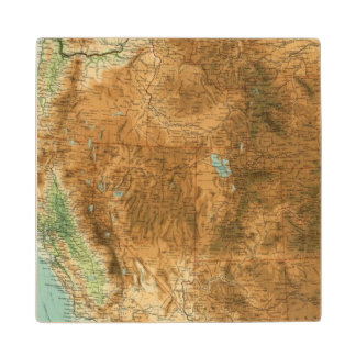 United States western section Wood Coaster