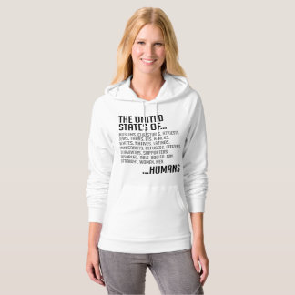 United States Women's Fleece Pullover Hoodie