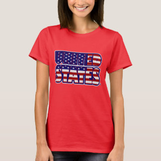 United States Worded Flag Women's T-Shirt