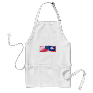 United States & Wyoming Flags Apron