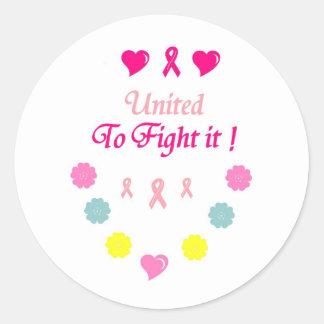 United to Fight Breast Cancer Round Sticker