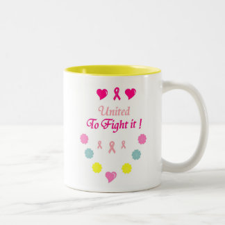 United to Fight Breast Cancer Two-Tone Coffee Mug
