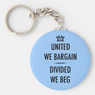 United We Bargain Basic Round Button Key Ring