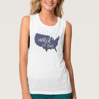 United We Stand America USA Shirt. Singlet