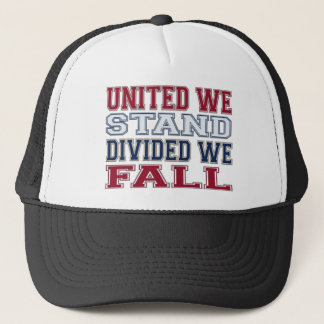 United We Stand, Divided We Fall T-Shirts and Gift Trucker Hat