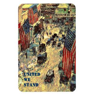 United We Stand. Fine Art  Patriotic Gift Magnet Rectangular Magnet