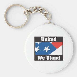 United We Stand Basic Round Button Key Ring