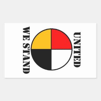 United We Stand Rectangular Sticker