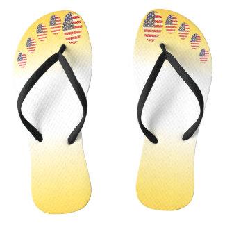 Unites States fingerprint flag Thongs
