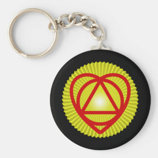 unitheist logo sunburst basic round button key ring
