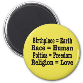 Unity and Humanity 6 Cm Round Magnet