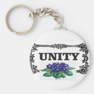 unity blue in frame basic round button key ring