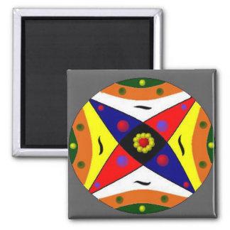 Unity Mandala Square Magnet