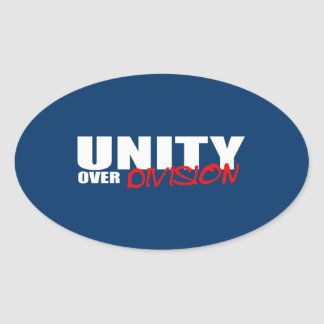 UNITY OVER DIVISION OVAL STICKER