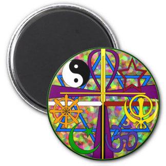 Unity Spiritual Symbols 6 Cm Round Magnet