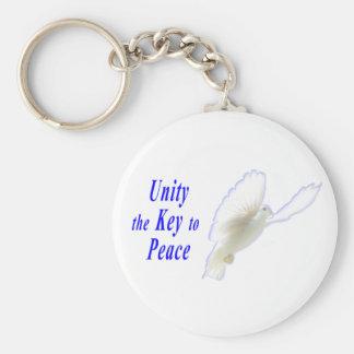 Unity the Key to Peace Key Chain