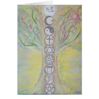 Unity Tree Greeting Card - Love Knows the Way