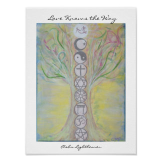 Unity Tree Poster - Love Knows the Way*