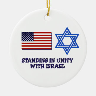 Unity with Israel Ceramic Ornament