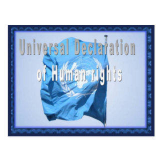 Universal declaration of Human Rights Postcard