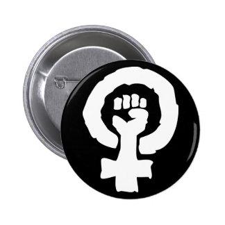 Universal Female symbol Solidarity hand 6 Cm Round Badge