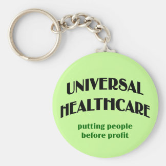 Universal Health Care Basic Round Button Key Ring
