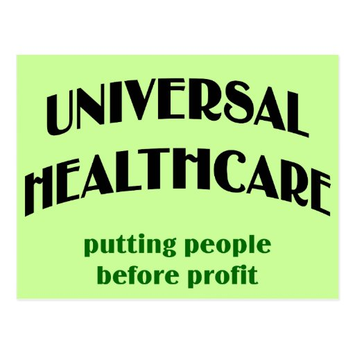 Universal Health Care Postcards