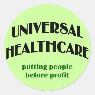 Universal Health Care Round Sticker