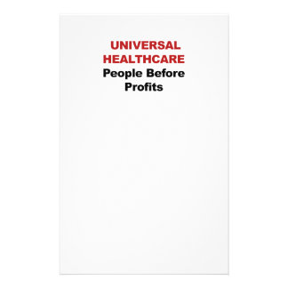 Universal HealthCare Customized Stationery