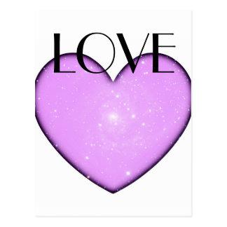 Universal Heart Love Postcard
