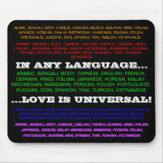 Universal Love Mouse Pad
