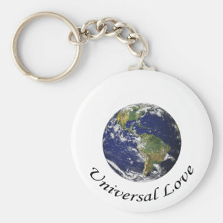Universal Love on earth Keychains