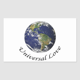 Universal Love on Earth Rectangle Stickers