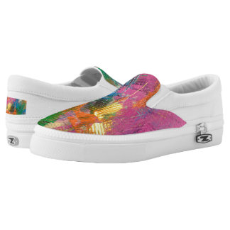 """Universal Mind""Original art byTquinnartist Slip-On Shoes"