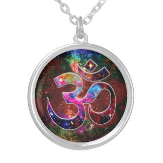 Universal OM Chi Silver Plated Necklace