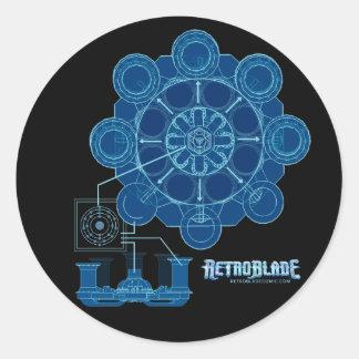 Universal Plans Round Sticker