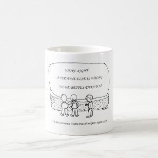 Universal truths all religions agree upon basic white mug