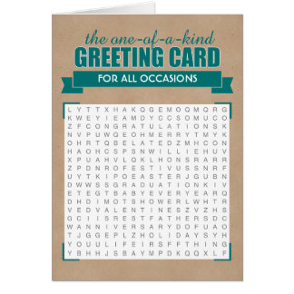 Universal Word Search Greeting Card
