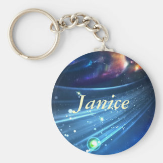Universe Abstract Basic Round Button Key Ring