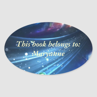 Universe Abstract Oval Sticker