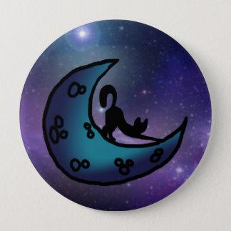 Universe cat 10 cm round badge