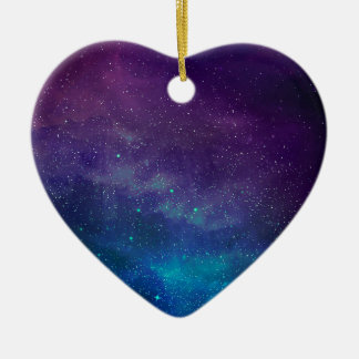 Universe Ceramic Heart Decoration