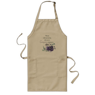 UNIVERSE CONSPIRES YOU TO ACHIEVE INK BLUE FLORAL LONG APRON