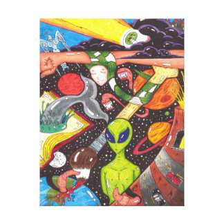 Universe Exploded Canvas Print
