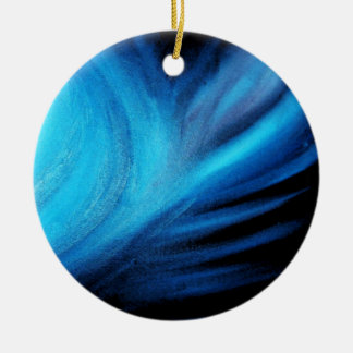 Universe in Blue Ceramic Ornament