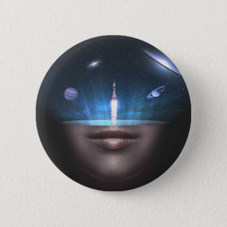 Universe in the Mind 6 Cm Round Badge