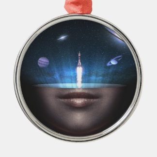 Universe in the Mind Metal Ornament